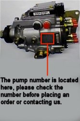 Vauxhall VP Pump number location